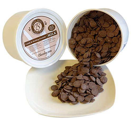 Chocoley Molding Chocolate - 5 Lbs - Bada Bing Bada Boom Candy & Molding Formula - 2 x 2.5 Lb Tubs of Dark, Milk, or White Chocolate (Milk Chocolate) (Best Chocolate For Melting Into Molds)