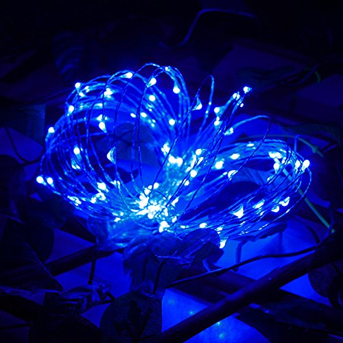 Price comparison product image Clearance Sale!DEESEE(TM)2M 20LED Button Cell Powered Silver Copper Wire Mini Fairy String Lights (Blue)