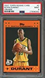 2007-08 topps rookie card orange #2 KEVIN DURANT warriors rookie card PSA 9 Graded Card