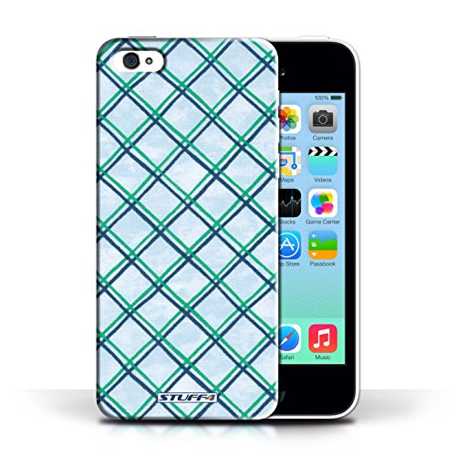 Etui / Coque pour Apple iPhone 5C / Vert/Bleu conception / Collection de Motif Entrecroisé