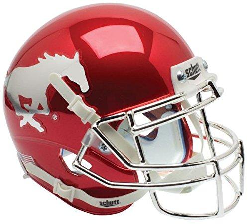 Southern Methodist (SMU) Mustangs Full XP Replica Football Helmet Schutt - NCAA College Football Licensed - SMU Mustangs Collectibles (Smu Mustangs Replica)