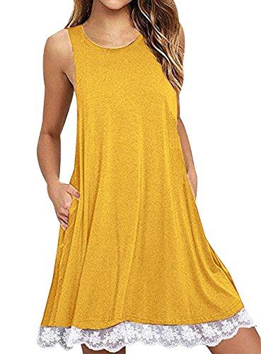 Kurze Kleider Damen T Shirt Kleid Shirtkleid Sommerkleider Kurz