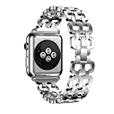 For Apple Watch Series 2 38mm,GBSELL Genuine Stainless Steel Bracelet Smart Watch Band Strap + Repair Tool (Silver)
