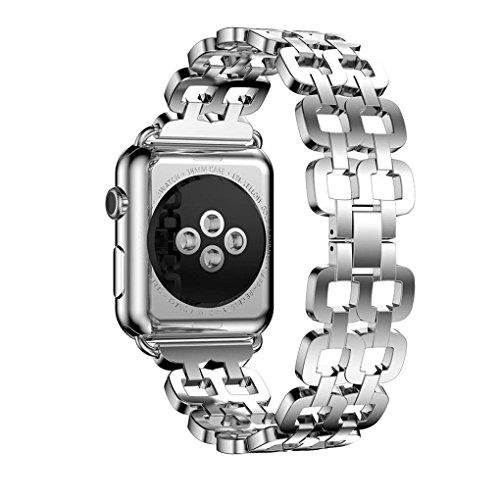 For Apple Watch Series 2 38mm,GBSELL Genuine Stainless Steel Bracelet Smart Watch Band Strap + Repair Tool (Silver)