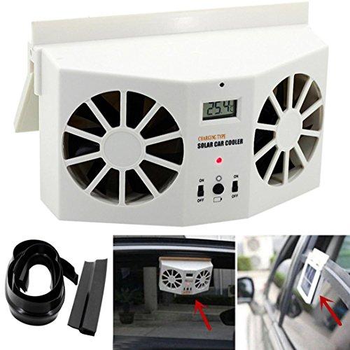 Solar Powered Car Window Mini Fan Air Conditioner Cool Fan Windshield Fan Air Vent Ventilator By Makaor (Dimension: 175x145x80mm/6.89