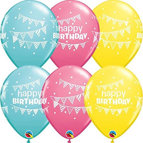 Qualatex cumpleaños Olsson & Dots surtido 11 pulgadas látex ...