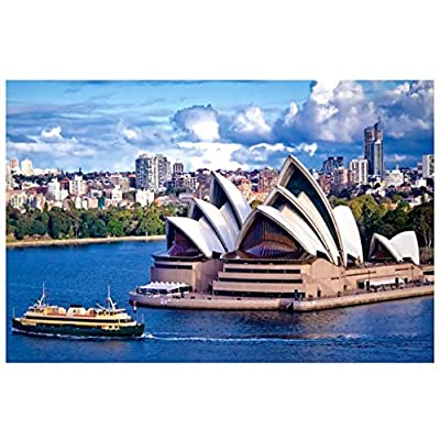 1000 Piece Jigsaw Puzzle for Adults & Kids - Sydney Opera House Landscape Educational Assembling Toys - Developing Fine Motor Skills, Memory, Shape & Color Sorting - Gift for Birthday & Mother's Day: Toys & Games