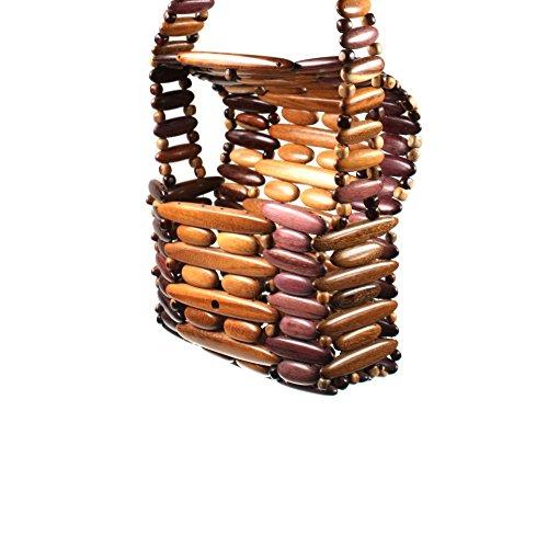 Borsa donna a mano borsa a tracolla borsa Schopper legno HHT6