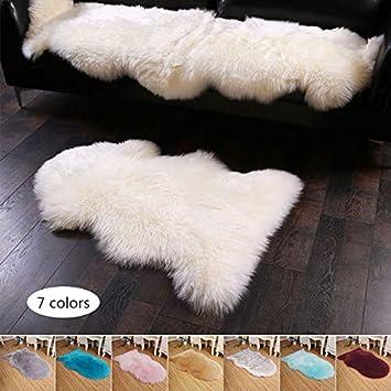 Fenghong Couverture en Peau de Mouton Artificielle Couverture Tapis Tapis vin Rouge Tapis Tapis de Sol Lavable en Peau de Mouton Fausse Fourrure d/écoration de la Maison