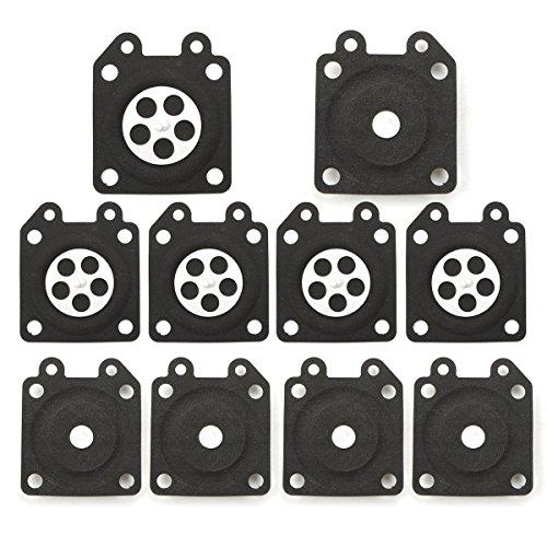 (Euros 95-526 Diaphragm (Pack of 10) Metering Carburetor for Walbro 95-526-9 95-526-9-8 WA WT WY WZ Series)