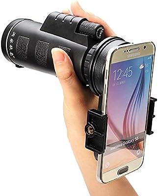 M.Way teleobjetivo con Zum, lente óptica, 10 x 40, Cámara, objetivo Universal, telescopio óptico monocular para iphone 5/6/6S Plus/7, Samsung Galaxy Note 5/S7/S6 Edge, Nexus, HTC, Huawei, Sony y otro Smartphones: Amazon.es:
