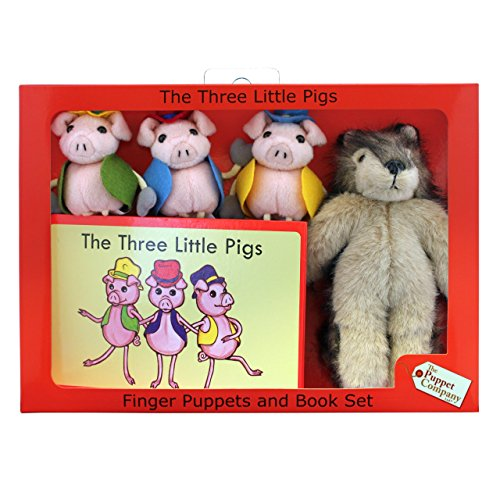 (The Puppet Company - Traditional Story Sets - Three Little Pigs & Wolf Finger Puppet Set [Toy])