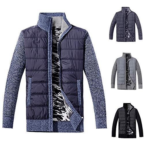 Acolchado Azul1 Invierno Zodof Abrigo Bolsillo Hombre Cremallera De Y Soporte Chaqueta Para Tops Algodón Slim Outwear Hombres Con XCXAq