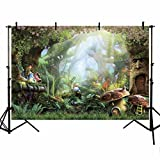 MEHOFOTO Photo Studio Backgroud Cartoon Fairy Tale Magic Forest Birthday Party Decoration Backdrops for Photography 8x6ft