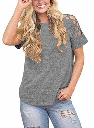 FIYOTE - Camiseta - para mujer gris claro