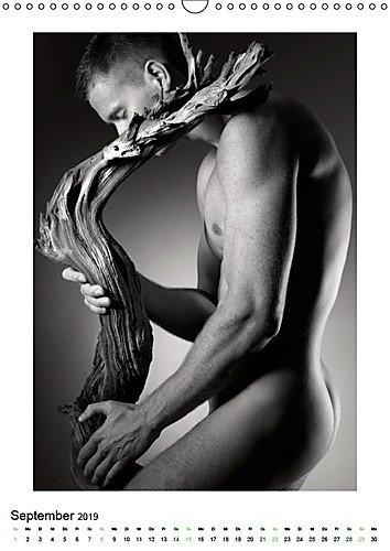 masculine 2018 men manner broschurenkalender 30 x 60 geoffnet schwarz weiss erotikkalender
