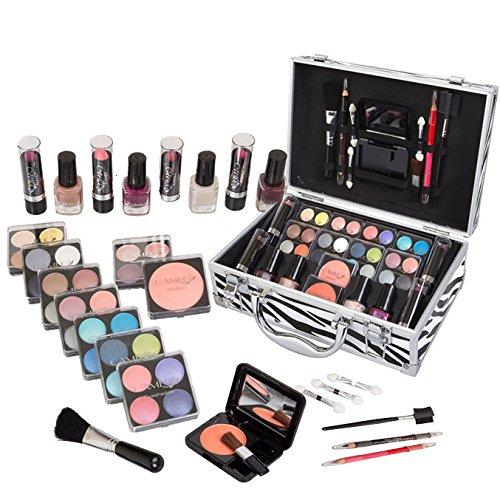 Jumbl ™ Carry All Kit de maquillage de vacances + Jumbl ™ brosse et miroir inclus (Set de vacances n ° 3)