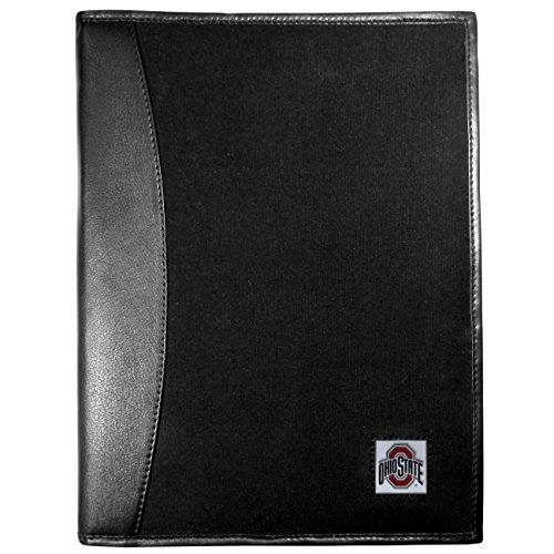 (NCAA Ohio State Buckeyes Leather & Canvas Padfolio, Black)