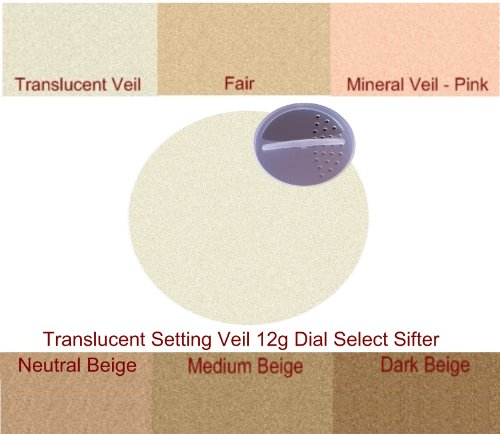 Watts Beauty Pure Loose Minerals - Translucent Finishing Mineral Veil - HUGE 12g Dial Sifter