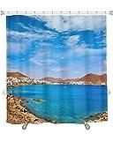 Gear New Almeria Cabo Gata San Jose Beach Village Spain Shower Curtain, 74'' X 71''