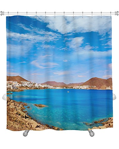 Gear New Almeria Cabo Gata San Jose Beach Village Spain Shower Curtain, 74'' X 71'' by Gear New