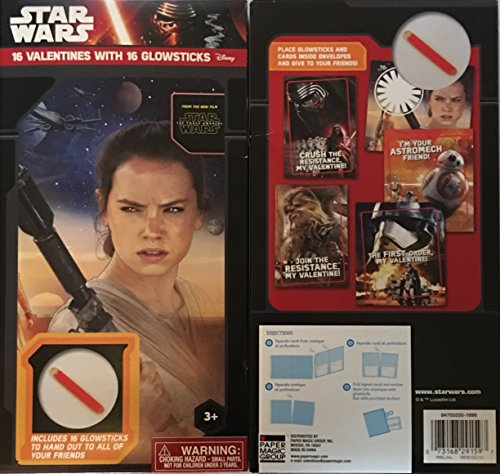 (Star Wars Valentines with Glowsticks ~ 16 count ~ 1)