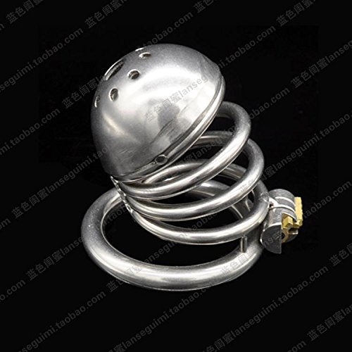 MISSLOVER Men's metal, stainless steel, chastity locks, chastity pants, sexy articles, alternative concealed locks, CB6000S adults by MISSLOVER