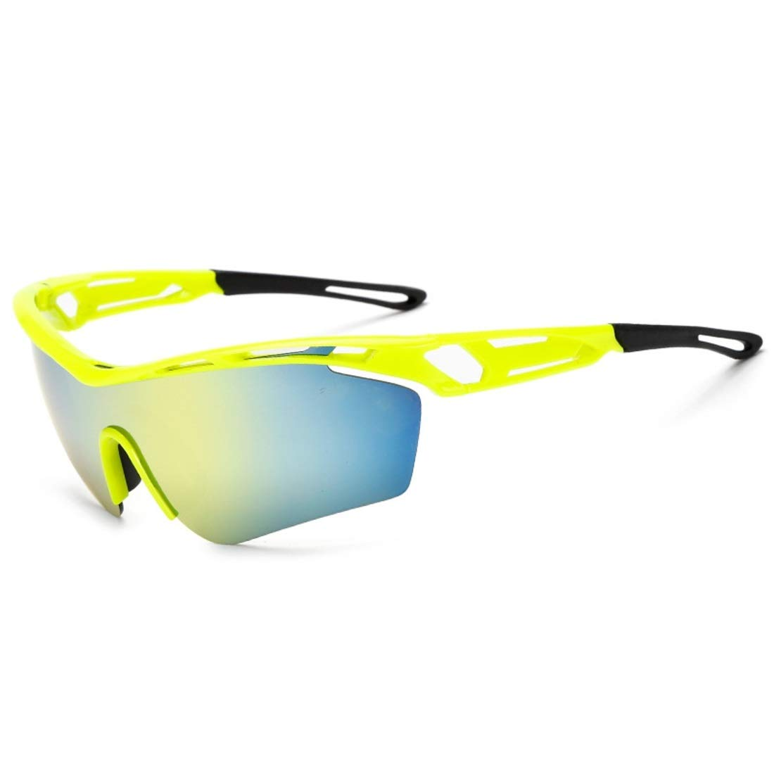 BAOYIT Riding Glasses Mountain Bike Windproof Sand Sunglasses Running Hiking Outdoor Sunglasses Men and Women (Color : Yellow) by BAOYIT