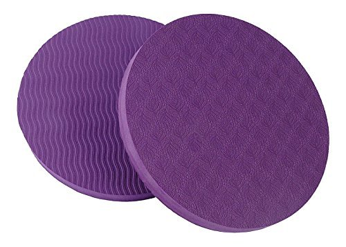 GoYonder Eco Yoga Workout Knee Pad Cushion Purple (Pack of 2) ()