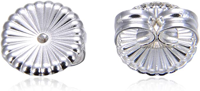 Sterling Silver Earring Backs Large Safety Jewelry Ear Nuts Stopper Stamped 925