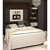 90 in. Queen Wall Bed Kit in Chocolate Finish