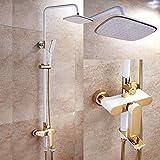Shower mixer Bathroom Rain Mixer Shower Combo Set Shower System Include Luxury Bath Rainfall Shower Head Handheld Shower And Tub Spout Faucet