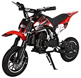 KidsFunWorld 49CC 2-Stroke Gas Power Mini Pocket Dirt Bike Dirt Off Road Motorcycle Ride-on (Red)