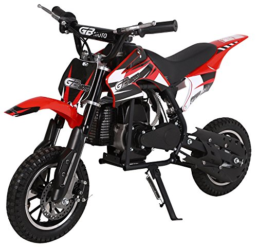(KidsFunWorld 49CC 2-Stroke Gas Power Mini Pocket Dirt Bike Dirt Off Road Motorcycle Ride-on (Red))