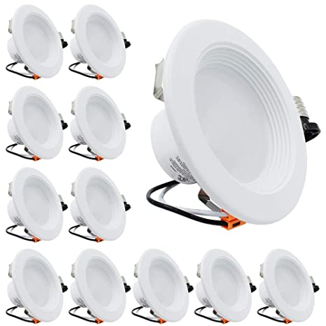 ESD Tech 4 pulgadas LED de intensidad regulable retrofit empotrado Downlight Trim, ...
