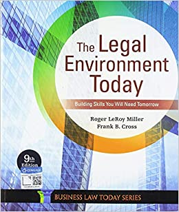The Legal Environment Today