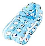 Baybee Baby Comfo Sleeping cum Carry Bag (Mixed Print - Blue)