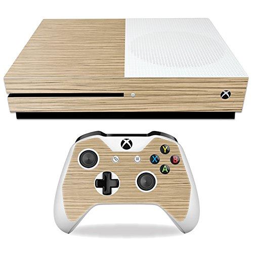One Bark Light (MightySkins Protective Vinyl Skin Decal for Microsoft Xbox One S wrap Cover Sticker Skins Light Zebra Wood)