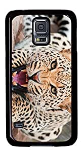 Angry leopard cat Masterpiece Limited Custom PC Black Case for Samsung Galaxy S5 I9600 by Cases & Mousepads