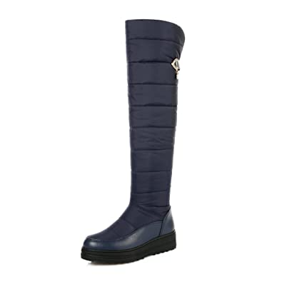 d3d4a6404b9 Amazon.com | NIQI Snow Boots Women Winter Warm Round Toe Knee High ...