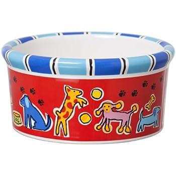 Signature Housewares Run Spot Run Dog Bowl, Large
