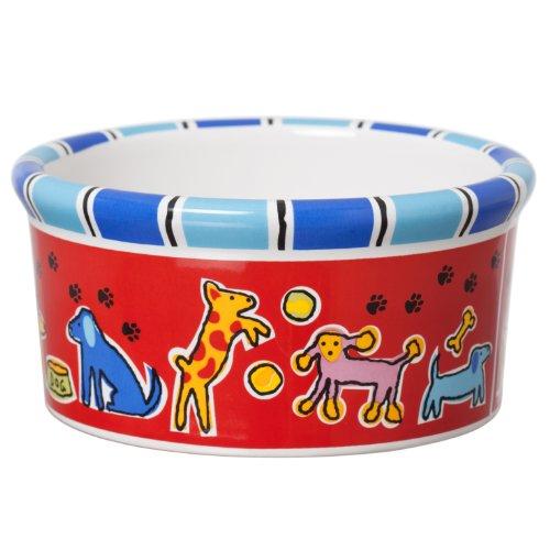(Signature Housewares Run Spot Run Dog Bowl, Small)