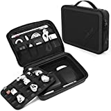 """Smatree Universal Travel Case for Small Electronics Accessories Compatible for 7.9"""" iPad Mini 4 / Kindle/Fire HD Tablet 7"""" Protective Gadget Bag with Handle,Lightweight Cable Organizer,Black"""