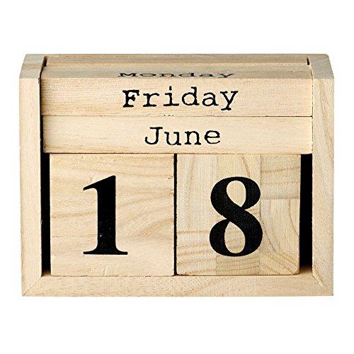 Bloomingville Paulownia Wood Perpetual Calendar