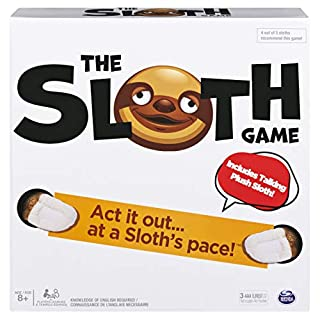 The Sloth Game, Team Charades and Task Game with Electronic Plush Sloth, for Ages 8 and Up