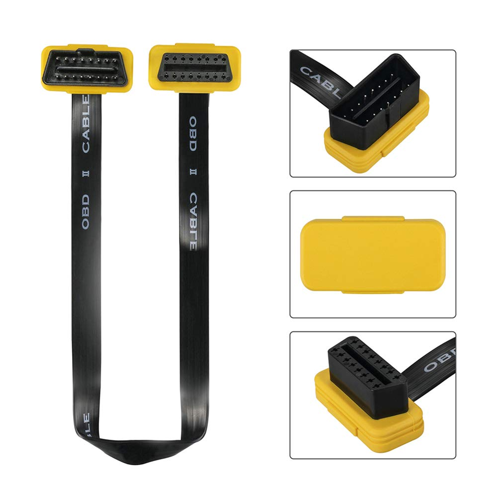AUTOOL OBD OBD2 OBD II Extension Cable 16Pin Male to Female Diagnostic Extender Cord for Car OBD II OBD2 EUOBD HUD Head Up Display 5ft//150CM//59inch