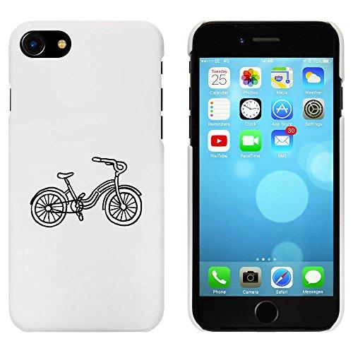 Blanc 'Vélo de Vue Latérale' étui / housse pour iPhone 7 (MC00080890)