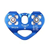 Cyberone 30KN Double Trolley Pulley Aluminum Zip Line Rock Climbing Mountaineering Rescue Lifting Tandem Pulley