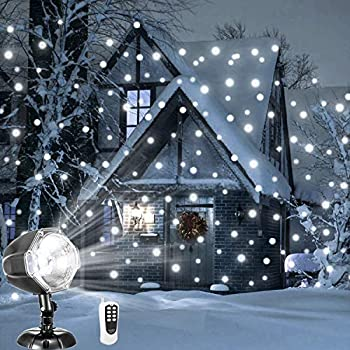 Amazon.com: Light Flurries LED WeatherProof Falling Snowflakes Light ...