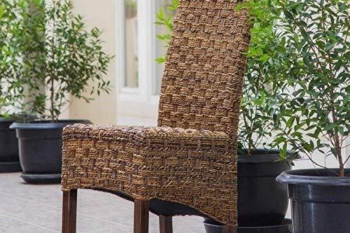 International Caravan SG-3308-1CH-IC Furniture Piece Manila Abaca/Rattan Wicker Dining - Dining Bali Chair